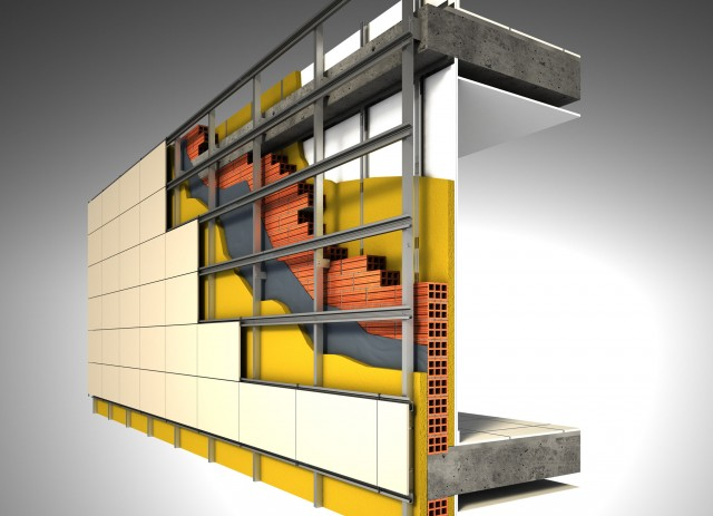 FACHADA VENTILADA 1 640x463 Aprovechar la rehabilitación de fachadas para mejorar el aislamiento térmico