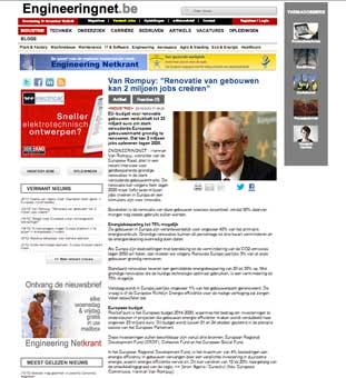 REnovate Europe en los medios Van Rompuy Europa habla en clave de construcción sostenible