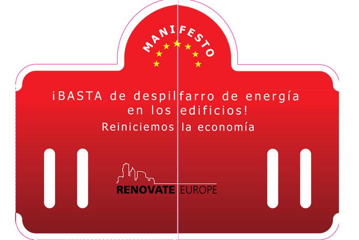 Renovate Europe folleto portada Frenar las pérdidas de energía en los edificios, objetivo de Renovate Europe