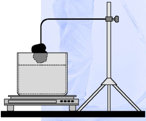 muestra poliuretano medicion ensayo
