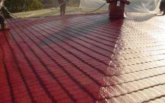 poliuretano sobre teja proyectado