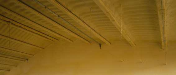 poliuretano proyectado cubierta abajo