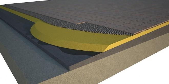 Cubierta plana transitable con aislamiento de poliuretano