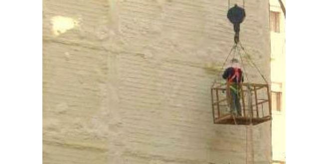 Protección de fachadas medianeras con poliuretano proyectado