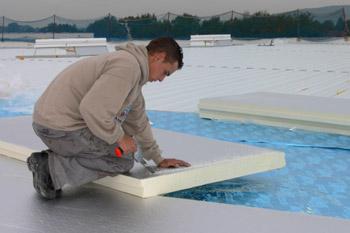 planchas de poliuretano conformado en cubiertas