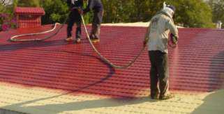 poliuretano sobre teja protegido